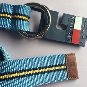 Tommy HILFIGER casual belt BLUE woven (S/M) NWT